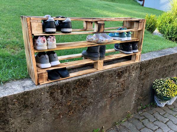 Schuhregal aus paletten schuhschrank palettenm bel in strullendorf handarbeit basteln - Schuhschrank aus paletten ...