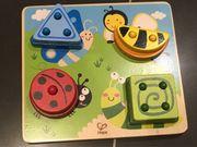 Holz-Steckpielzeug für Babys und Kleinkinder