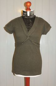 Kurzarm-Pullover khaki Größe 36