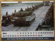 Bundeswehr-Bildkalender 1981 Heer Marine Luftwaffe