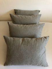 4x unbenutzte graue Couch Kissen