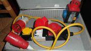 Starkstrom Kupplungen Stecker und Sicherung