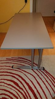 Schreibtisch grau 160cm x 80cm