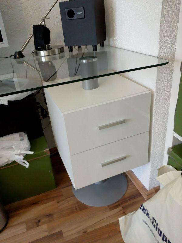 Büromöbel weiss hochglanz  großer,schöner Schreibtisch weiß Hochglanz in Mannheim - Büromöbel ...