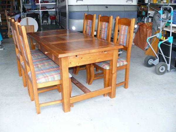 Zu Verkaufen Sitzgruppe Tisch Mit 6 Stühlen In Waging Speisezimmer