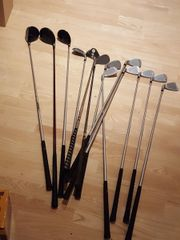 Golfschläger, Golfbälle und