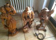 Große Holzfiguren handgeschnitzt 60-67 cm