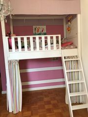 Kinder Hochbett mit Matratze und