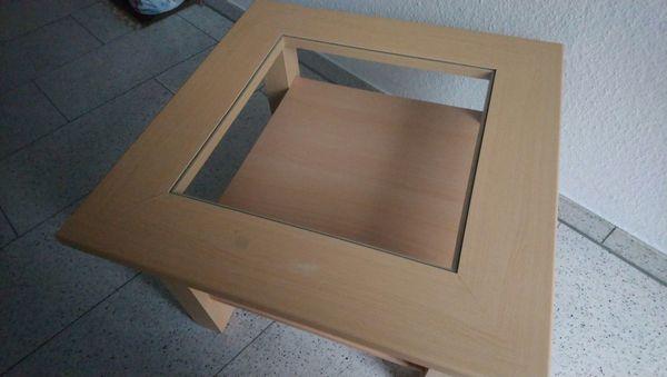 Couchtisch Beistelltisch Quadratisch Holzglas In Griesheim