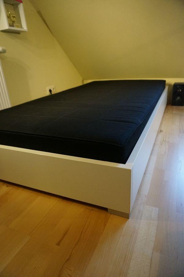 Matratzen Groß Zimmern weißes bett rudolf str8up 100x200cm inklusive lattenrost und