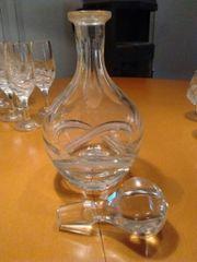 Bleikristall-Karaffe mit Glasstöpsel