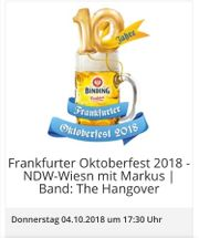 2 Karten Frankfurter Oktoberfest 04