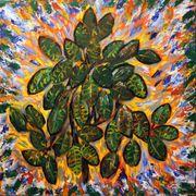 Acrylbild Brennender Busch 100 cm
