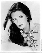 JANE SEYMOUR Widmung mit Autogramm