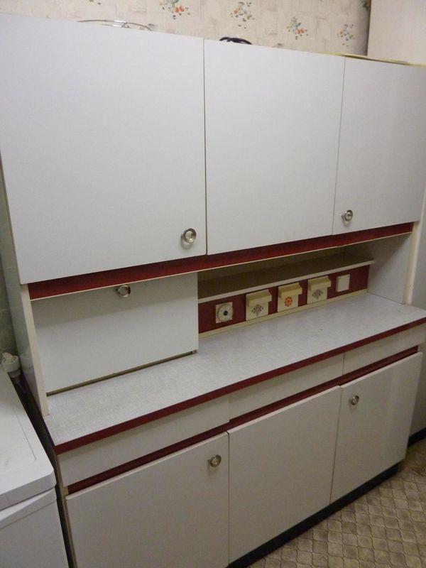Küchenschrank Vintage Küchenbuffett 70er Rot Weiß Mit Hochschrank In