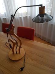 Schreibtischlampe interessantes Holz Metall- Design
