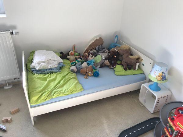 Geuther Kinderzimmer Babyzimmer Weiss Schrank Bett Wickeltisch In