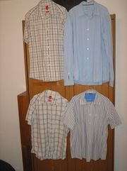 4 kaum getragene Freizeithemden von