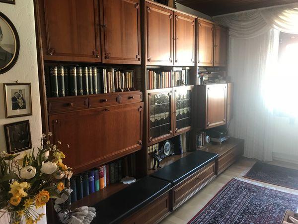 Wohnzimmer Schrank Schrankwand Holz Massiv