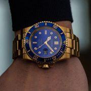 Herren Uhr Kompass Gold 18k