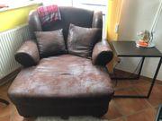 XXL Leder Sessel für 2