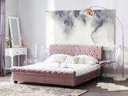 Polsterbett rosa Lattenrost 180 x