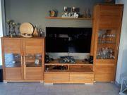Schrankwand Tisch und Sideboard Wildeiche
