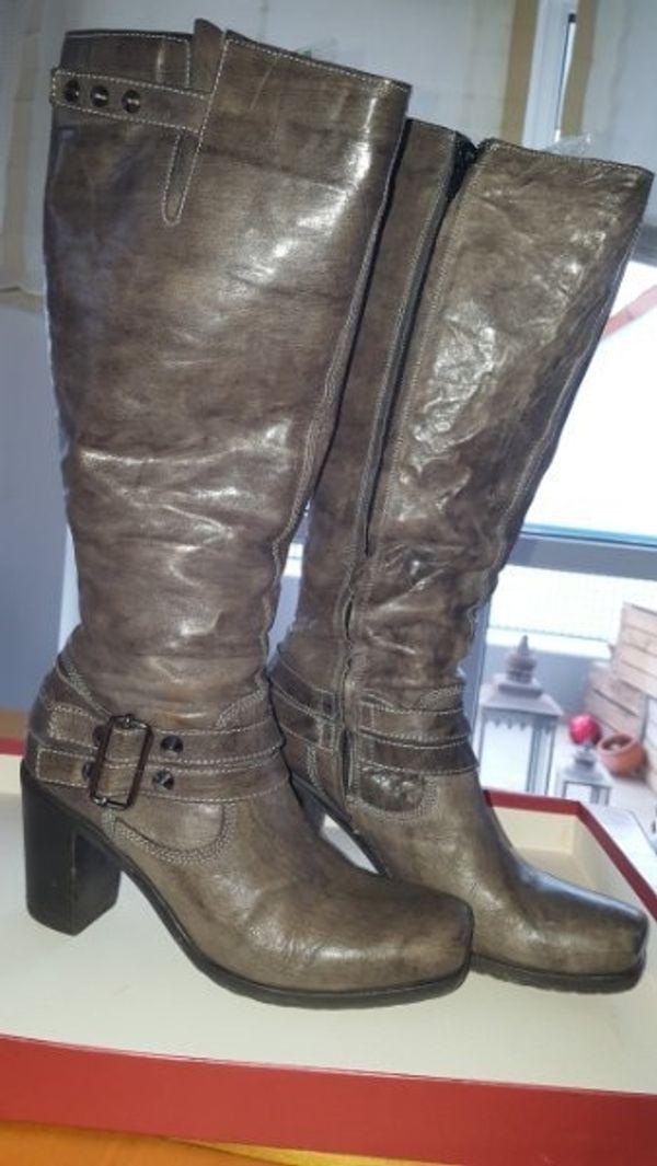 Damen Lederstiefel günstig gebraucht kaufen - Damen Lederstiefel ... e776eac43f