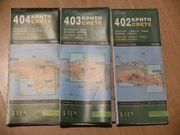 3teilige Kreta Landkarte