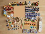 Spielzeug, Spielzeugfiguren, Spielkarten, Sponge Bob, Bart Simpson, E.T., Dinos, Flugzeug, Stikeez, gebraucht gebraucht kaufen  Wiesloch