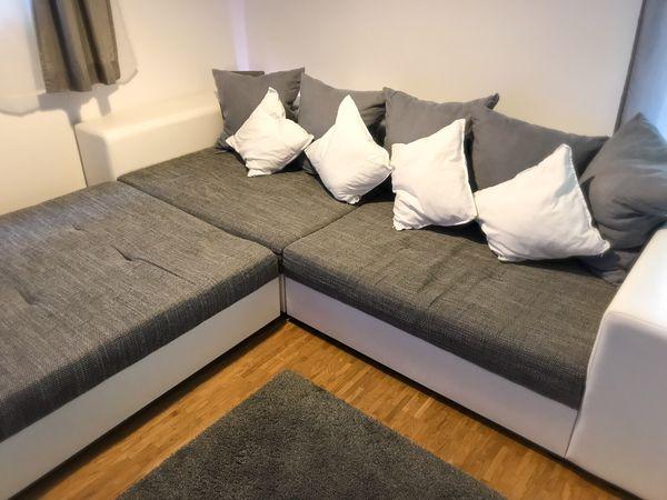 Big Sofa Couch Mit Hocker Und Kissen In Stuttgart Polster
