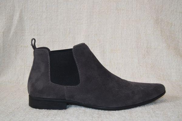 Chelsea Boots Herren Grau Gr