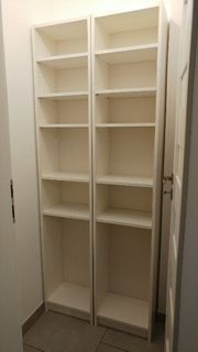 2 schmale Ikea Bücherregale in