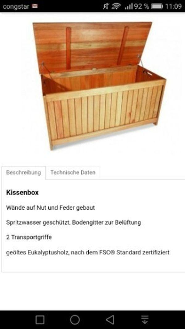 Neu ! Kissenbox aus Eukalyptusholz geölt Originalverpackt ! NP 179 ...