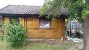 Pacht-Garten mit Blockhaus