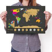 Weltkarte zum Rubbeln 7 Weltwunder