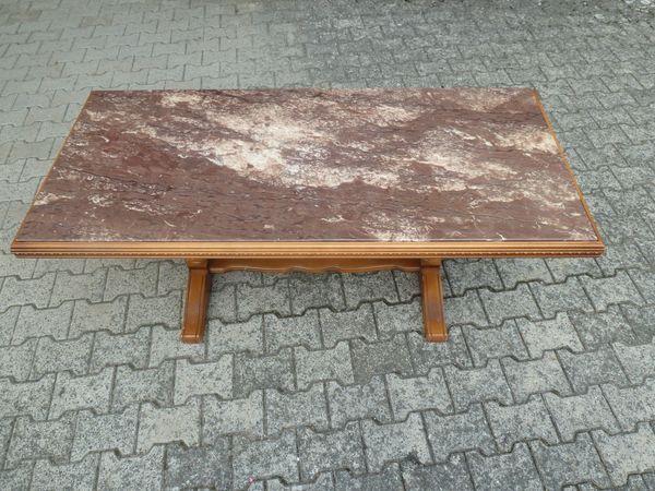 Wohnzimmertisch bzw. Couchtisch Holz mit schöner Mamorplatte in ...