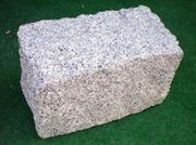 Granitmauersteine grauweiß 20 x 20