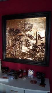 Bronzeguss Wandrelief Museumsreplikat Die Erschaffung