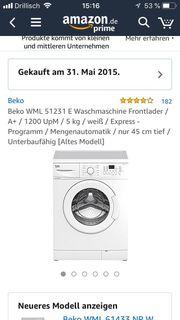 Waschmaschine Selbstabholer