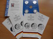 4 x 10 Euro Silber