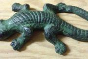 Grüner Deko Gecco aus Ton