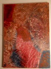 Acryl auf Leinwand Unikat Red