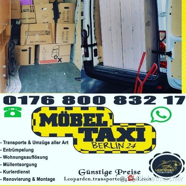 Mobel Taxi Berlin 24 Transport Taxi Moving Alles Mogliche Kaufen