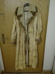 Leder Mantel mit