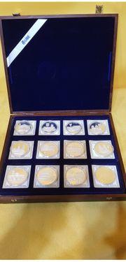 Die ersten Euro Prägungen Silbermünzen
