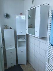 Bad-Spiegelschrank Hochschrank Kommode mit Hängeschrank