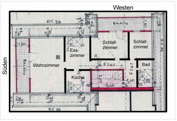 DG-Wohnung im » Vermietung 3-Zimmer-Wohnungen