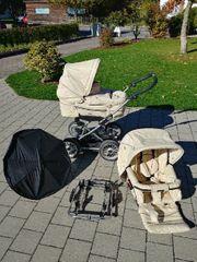 Emmaljunga Kinderwagen Komplettset inkl Autohalterung