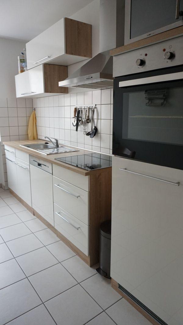 Küche Küchenzeile weiß hochglanz inkl. Elektrogeräte in Karlsruhe ...
